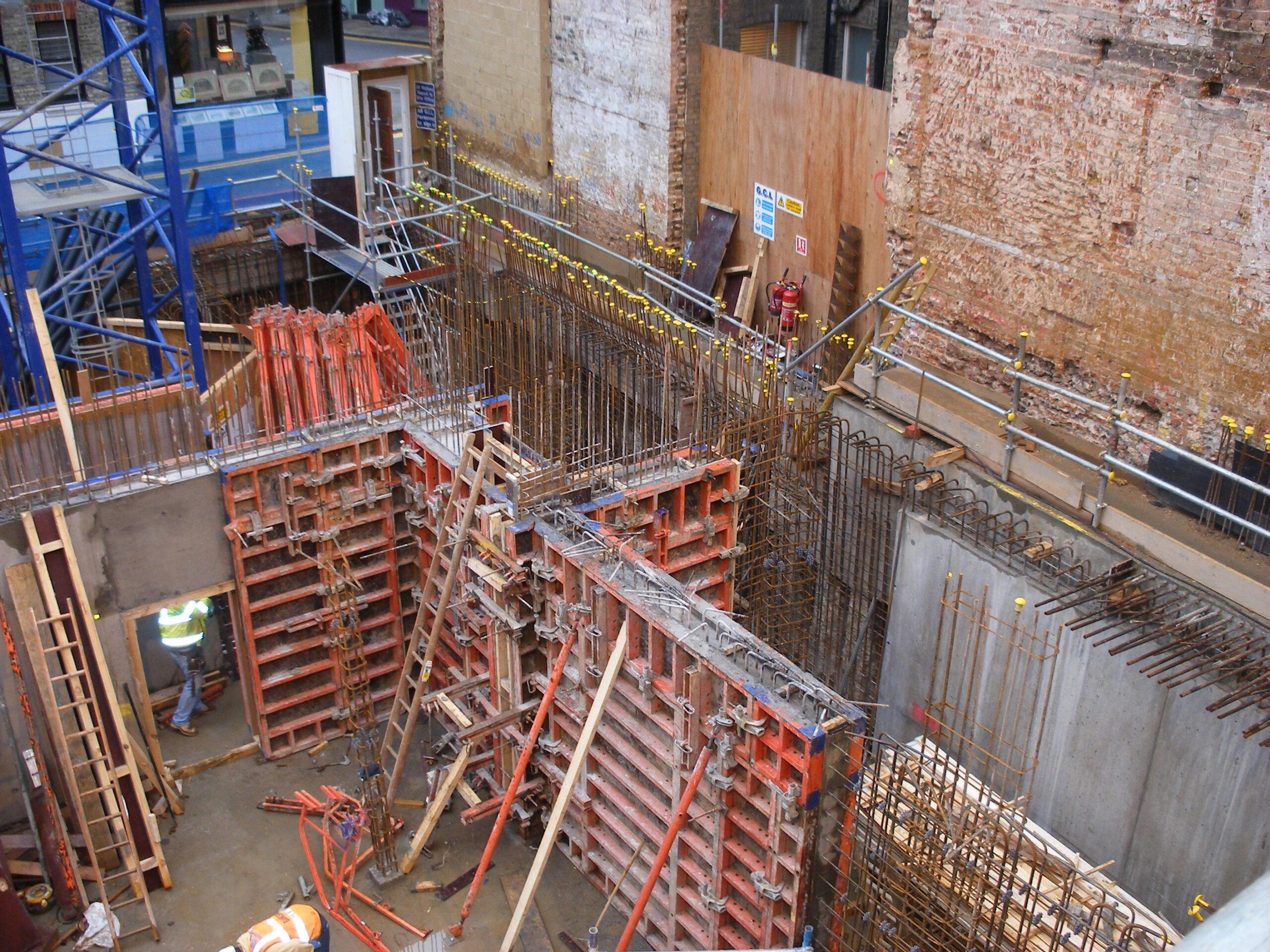 Kensington Church Street basement construction