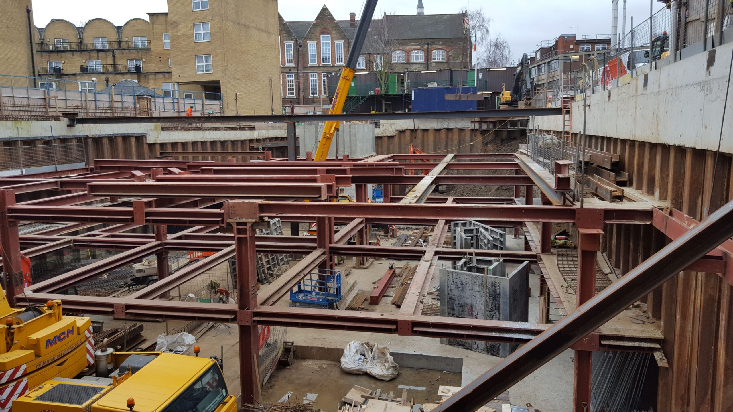 Holmes Road modular accommodation - steelwork